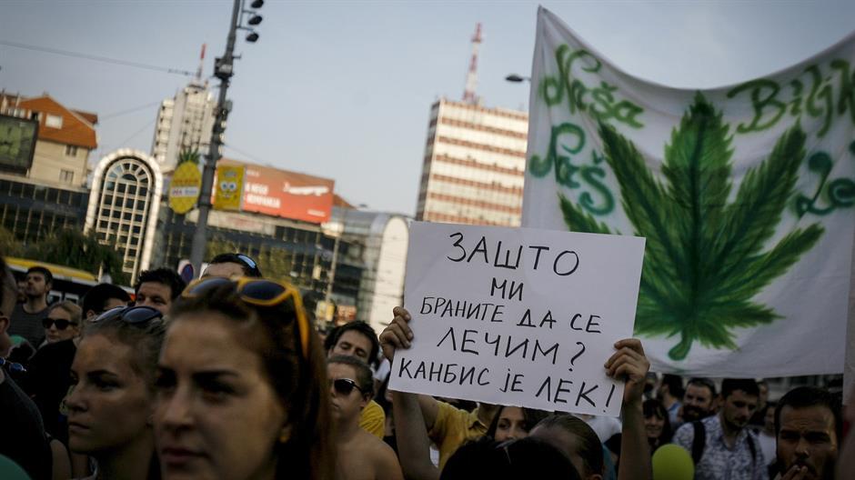 BEOGRAD: ODRŽAN PROTEST ZA LEGALIZACIJU MARIHUANE