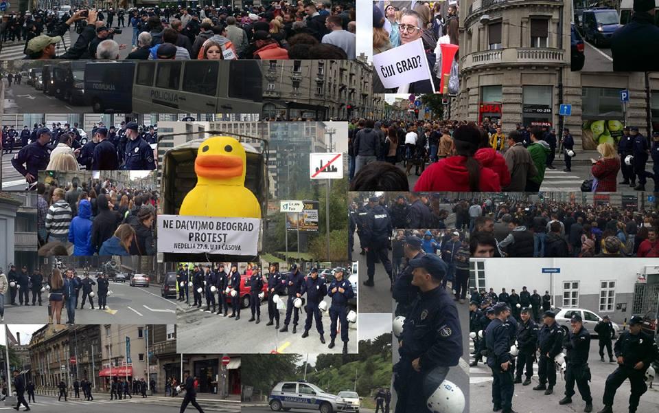 PROTEST GRAĐANA, ZVIŽDUCI PROTIV BEOGRADA NA VODI