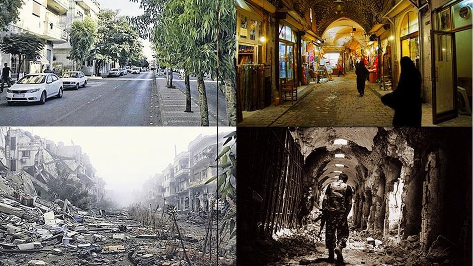 SIRIJA NEKAD I SAD: FOTOGRAFIJE KOJE POKAZUJU BEZUMLJE RATA