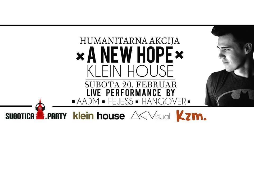 """DANAS """"A NEW HOPE"""" U KLEIN HOUSE-U: HUMANITARNA AKCIJA ZA UČENIKE OISŠ """"ŽARKO ZRENJANIN"""""""