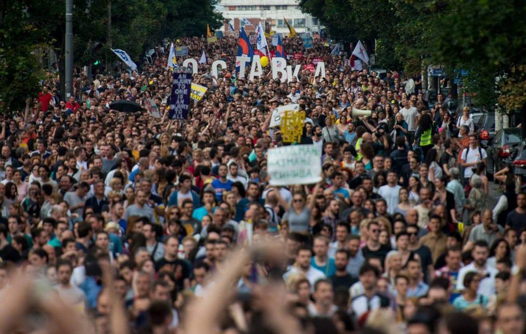 """PODRŠKA PROTESTIMA """"NE DA(VI)MO BEOGRAD"""" IZ SUBOTICE I JOŠ DEVET GRADOVA SRBIJE"""
