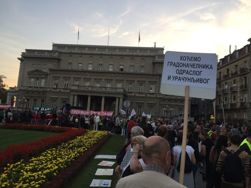 MAGLOČISTAČ NA PROTESTU NE DA(VI)MO BEOGRAD: OVO JE PROTEST ZA CELU SRBIJU! (SLIKE)