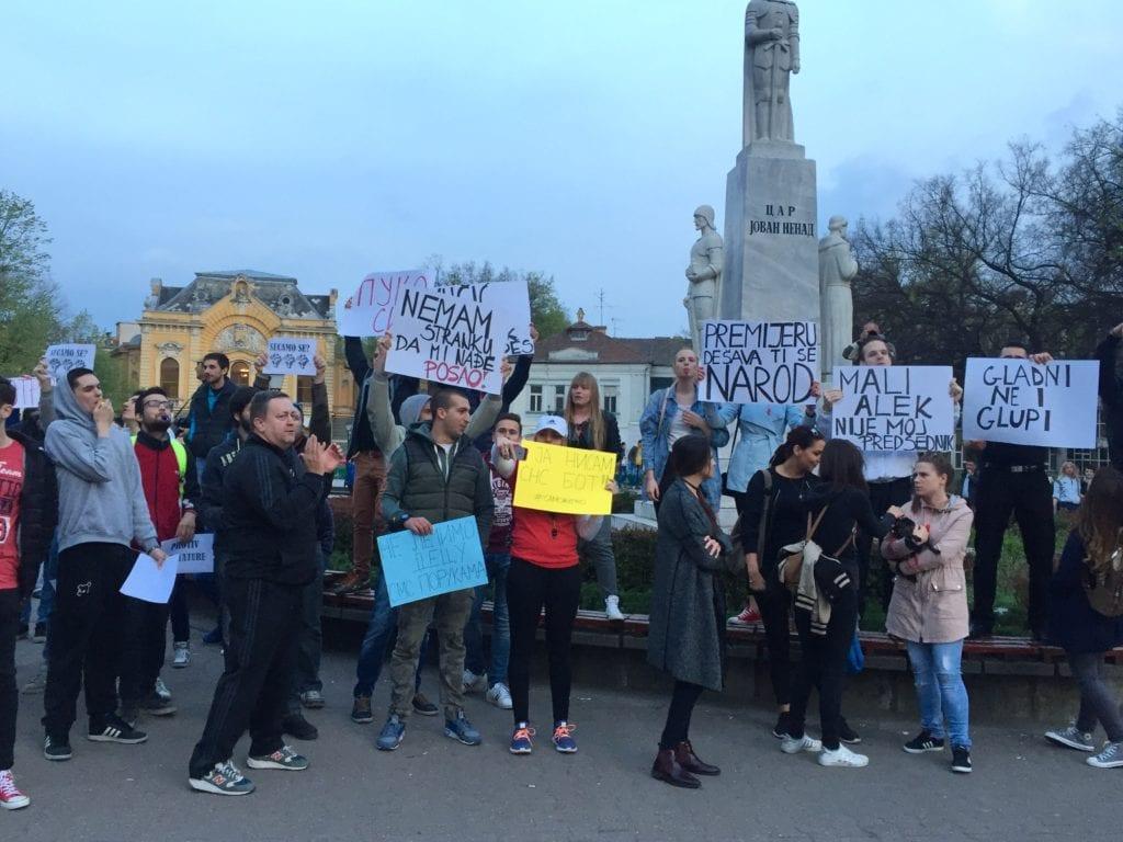 PROTEST PROTIV DIKTATURE: VLAST IMA ROK DO 17. APRILA DA ISPUNI ZAHTEVE