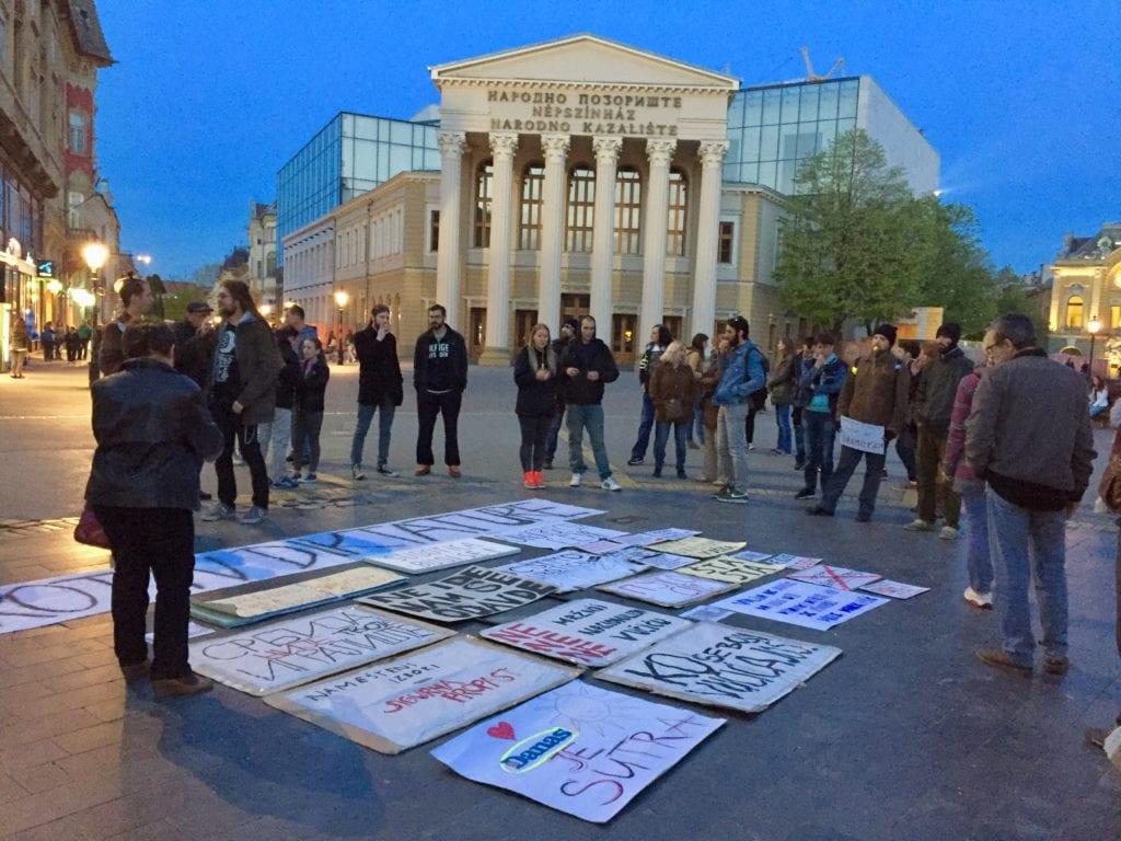 MLADI U SUBOTICI: NASTAVLJAMO DALJE SA PROTESTIMA