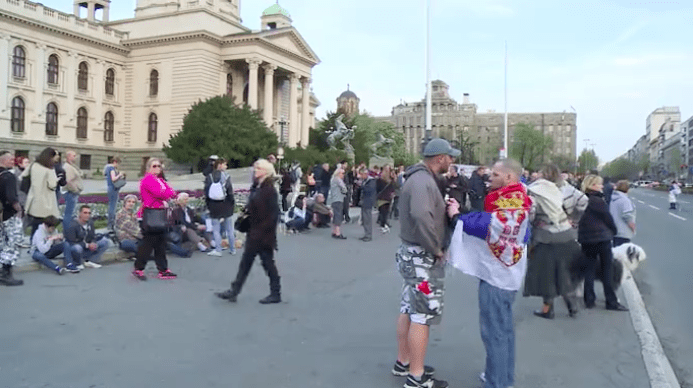 ZAVRŠEN 13. GRAĐANSKI PROTEST U BEOGRADU, NOVI SKUP ZAKAZAN ZA SUTRA
