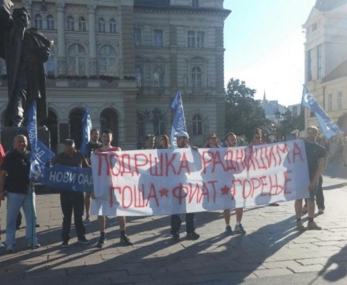 PROTEST U NOVOM SADU: DOLE VUČIĆ, SLOBODA NARODU!