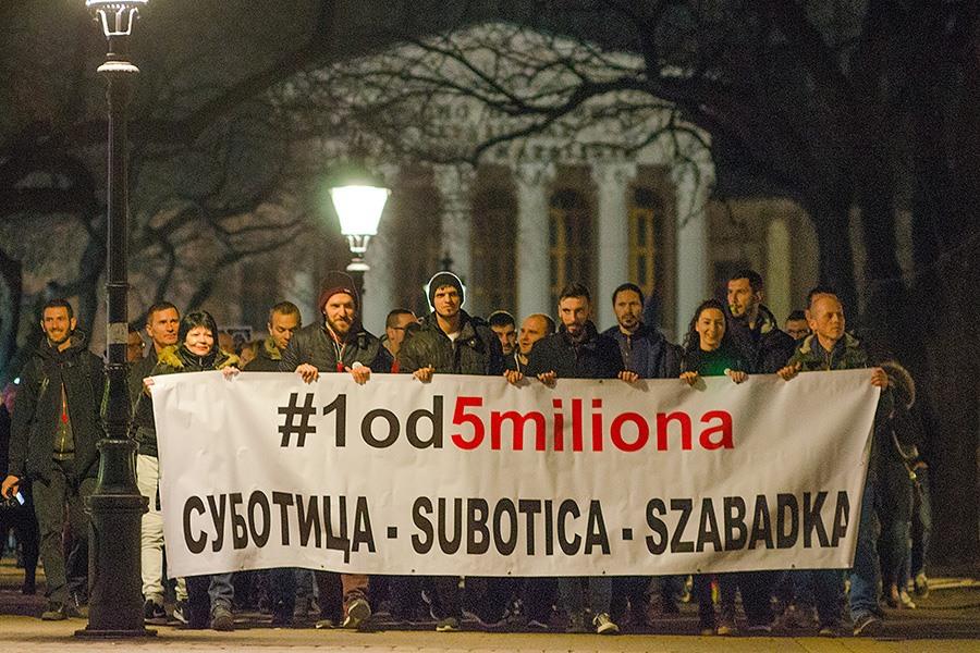 SUBOTICA: U PETAK SEDMI GRAĐANSKI PROTEST