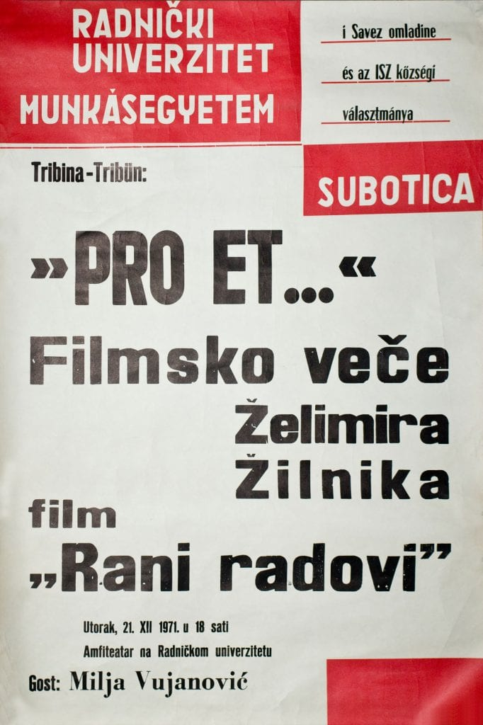 """CIKLUS """"ISTORIJA VOJVOĐANSKOG FILMA"""" U BIOSKOPU ABAZIJA NA PALIĆU"""