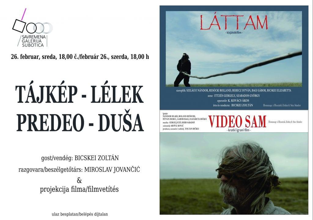 "FILMSKO VEČE ""PREDEO – DUŠA"" U SAVREMENOJ GALERIJI SUBOTICA U SREDU, 26. FEBRUARA"