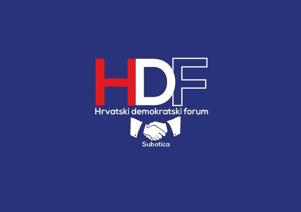 Hrvatski demokratski forum (HDF) poziva građane s pravom glasa da izađu na izbore za Hrvatski sabor