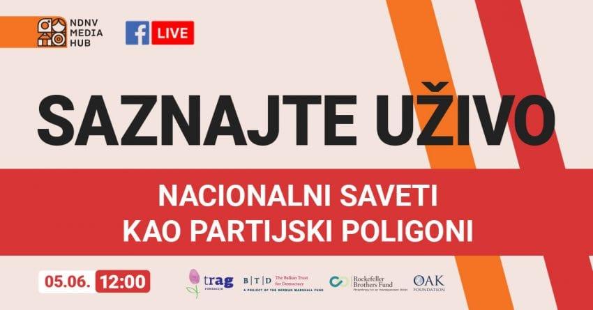 Nova Fejsbuk emisija NDNV-a: Nacionalni saveti kao partijski poligoni