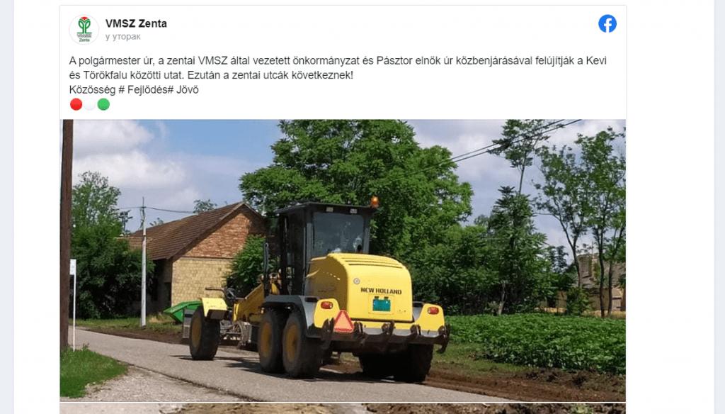 Szabad Magyar Szó: Ko je zaslužan za jedan putić u Senti – Vučić, Pastor, ili Đeri?