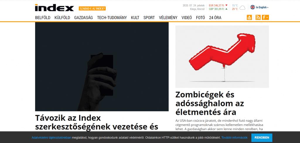 Desetine mađarskih novinara dale otkaz posle otpuštanja glavnog urednika portala Index.hu