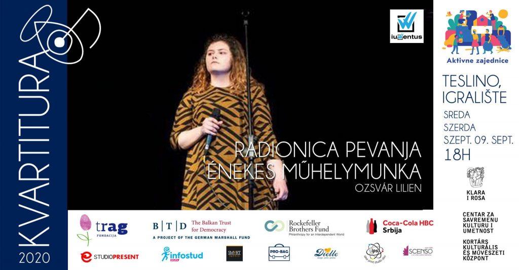 Kvartitura 2020: U sredu, 9. septembra, radionica pevanja u Teslinom naselju