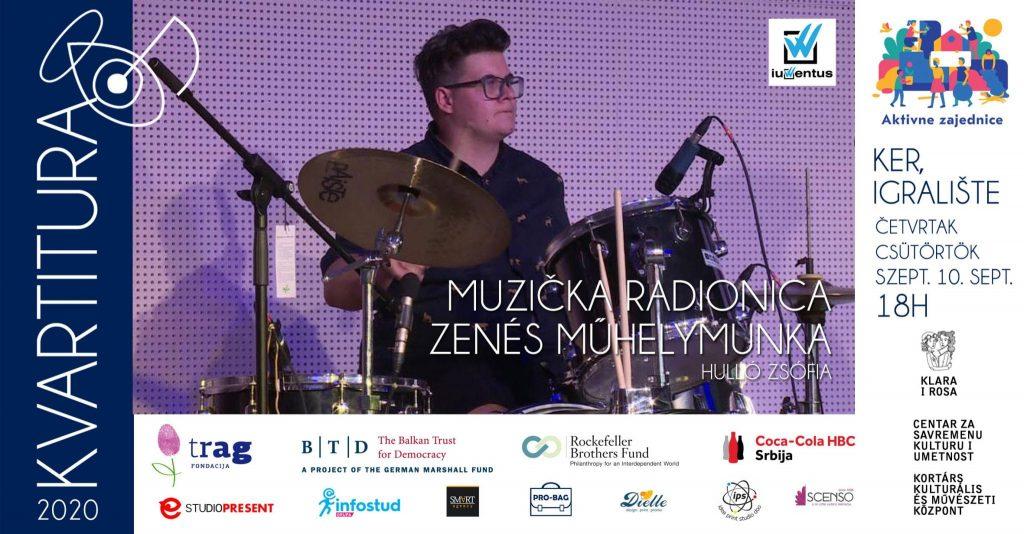 Kvartitura 2020: Muzička radionica u četvrtak, 10. septembra, u Keru