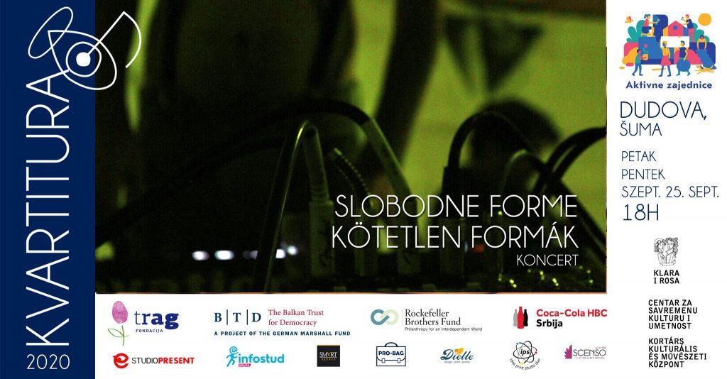 Kvartitura 2020: Slobodne forme u Dudovoj šumi u petak, 25. septembra