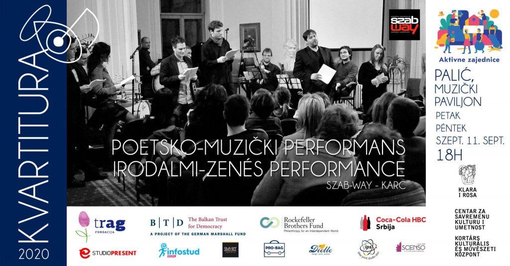 Kvartitura 2020: Poetsko-muzički performan trupe kArc u petak, 11. septembra, na Paliću