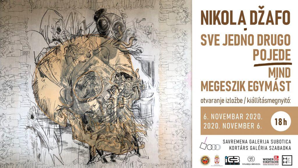 """Nikola Džafo u Savremenoj galeriji Subotica: Izložba """"Sve jedno drugo pojede"""" otvara se 6. novembra"""