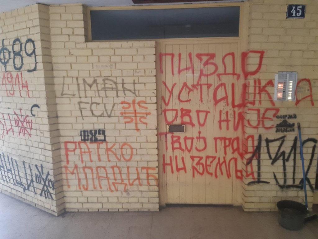 Gruhonjić: Ovo je prvi put da je moje dete videlo grafite mržnje