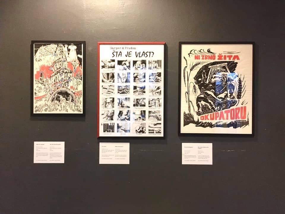 """Politički plakat: Grupa mladih koja """"politizuje prostore"""""""