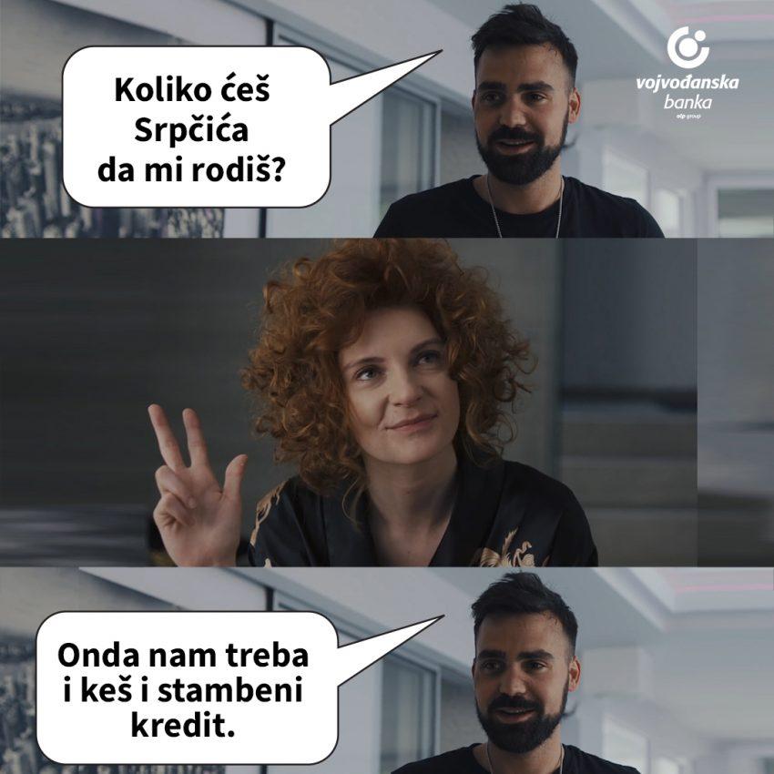 "Vojvođanska banka objavila, pa povukla reklamu ""Koliko ćeš Srpčića da mi rodiš"""