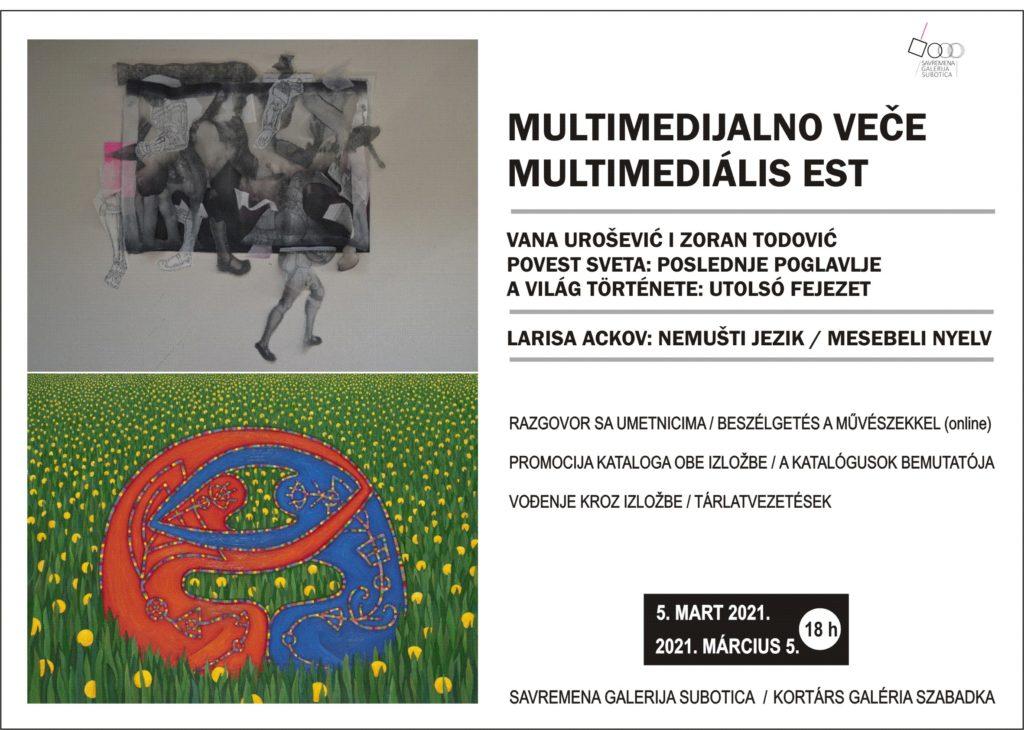 U petak multimedijalno veče u Savremenoj galeriji Subotica