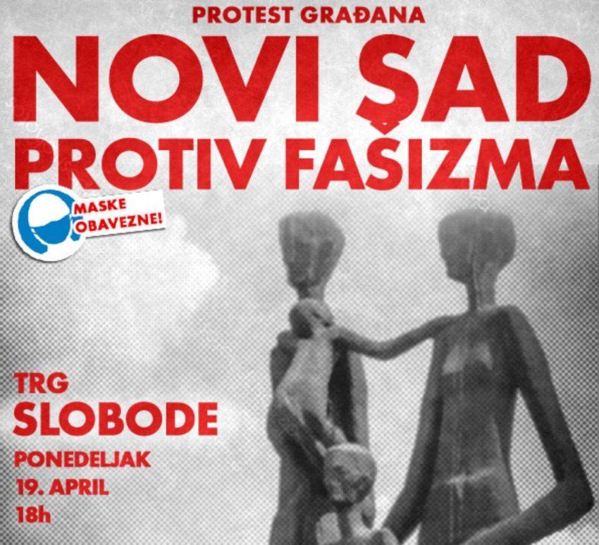 """U ponedeljak protest građana """"Novi Sad protiv fašizma"""""""