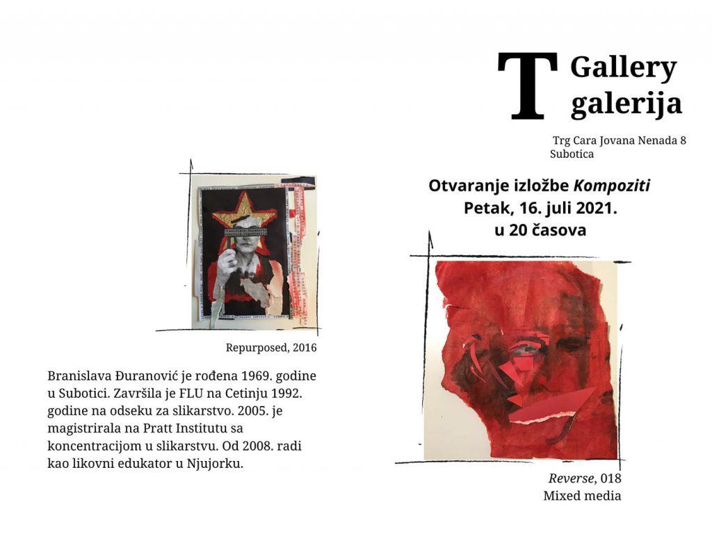 """T Galerija Subotica: Otvaranje izložbe """"Kompoziti"""" Branislave Đuranović"""