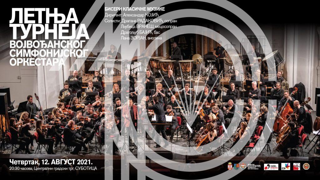 Vojvođanski simfonijski orkestar 12. avgusta u Subotici izvodi bisere klasične muzike