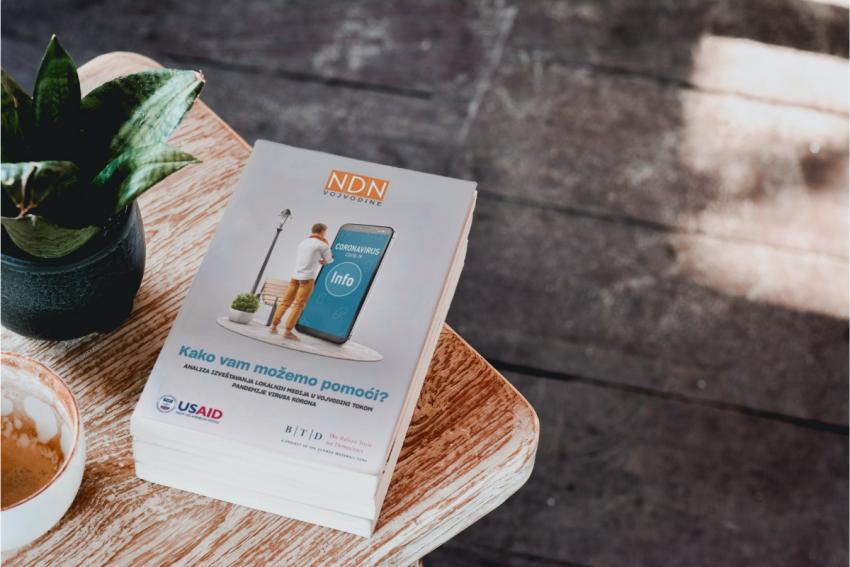 """NDNV izdao publikaciju """"Kako vam možemo pomoći?"""" o izveštavanju lokalnih medija u Vojvodini tokom pandemije virusa korona"""