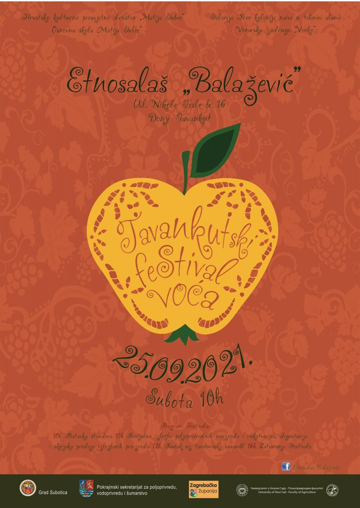 U subotu 11. Tavankutski festival voća i autohtonih rukotvorina