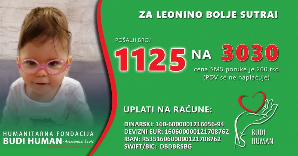 Maloj Subotičanki Leoni Kovač potrebna je naša pomoć: 1125 na 3030