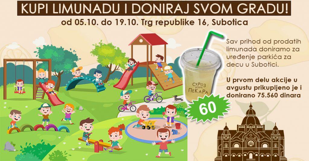"""U toku akcija """"Kupi limunadu i doniraj svom gradu"""": Prikupljena sredstva namenjena uređenju dečijih parkova"""
